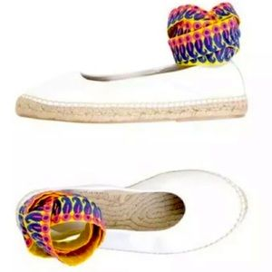 Free People Ribbon Ankle Wrap Espadrille Flats